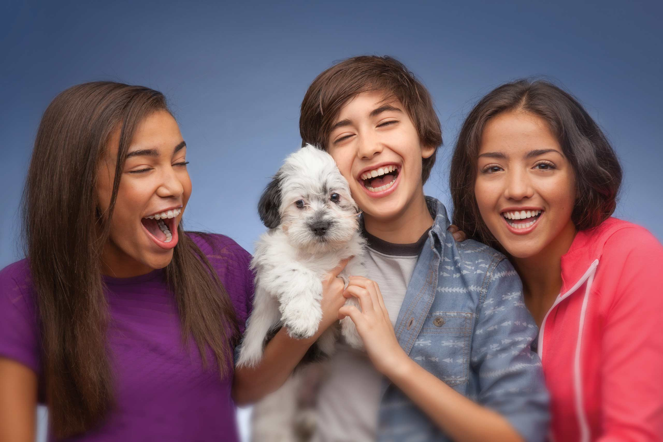 Teenagers with Puppy